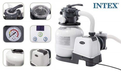 Intex homokszűrős vízforgató 6m3/h 220W 26646