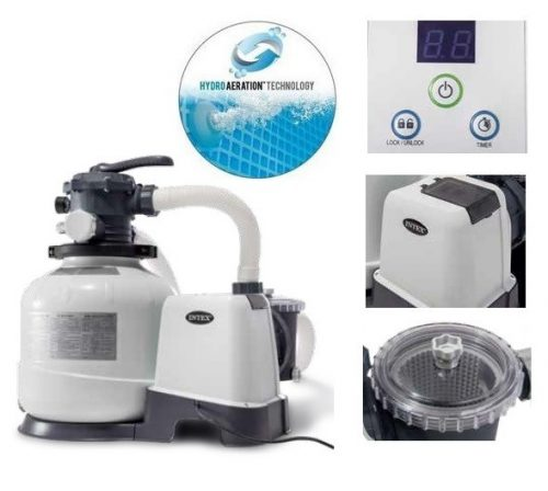 Intex homokszűrős vízforgató 8m3/h 190W 26648