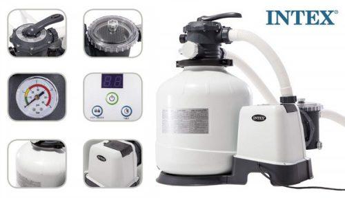Intex homokszűrős vízforgató 9,2m3/h 550W 26652