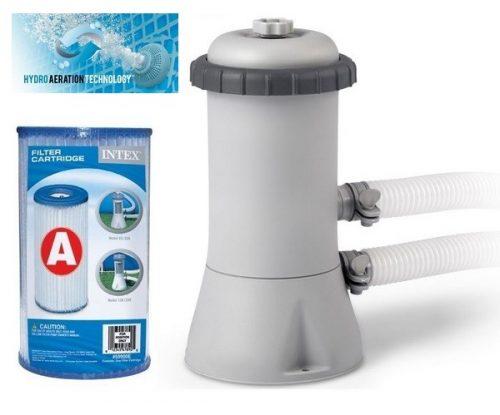 Intex papírszűrős vízforgató szivattyú 2m3/h 45W 28604