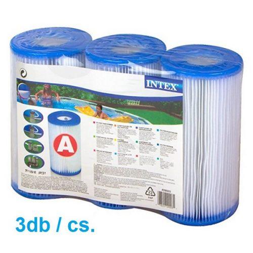 Intex papír szűrőbetét A típusú 29003 (3db/cs) HÁRMAS CSOMAGOLÁSÚ